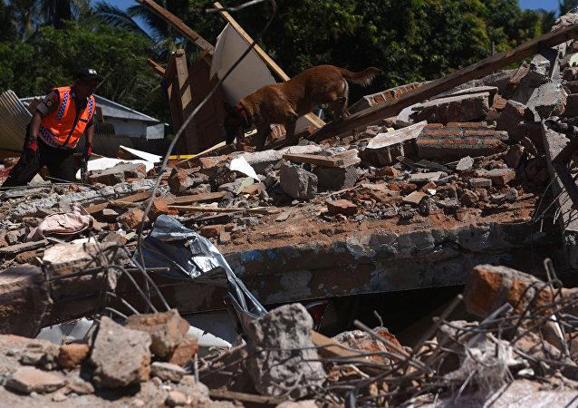 Consecuencias del terremoto en la isla de Lombok, Indonesia