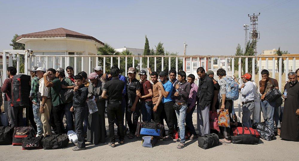 Refugiados sirios en la frontera de Turquía, el 17 de junio, 2015