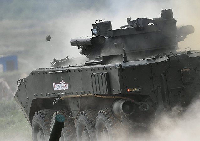 Un vehículo blindado ruso (archivo)