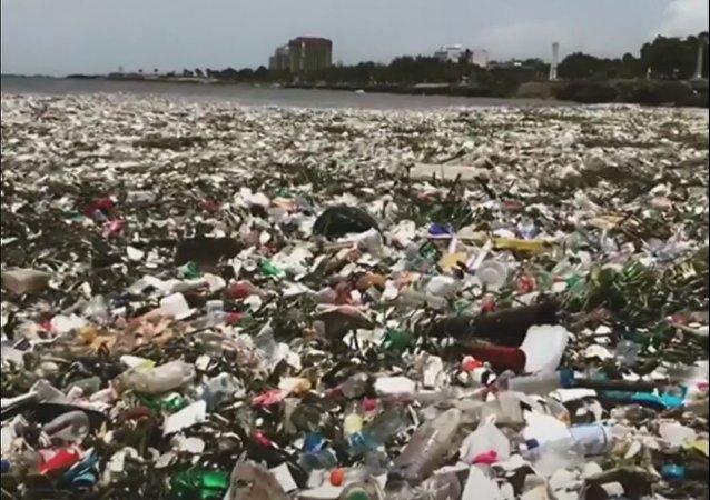 Olas de basura bañan la costa mexicana