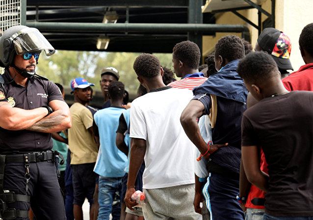Migrantes africanos en Ceuta