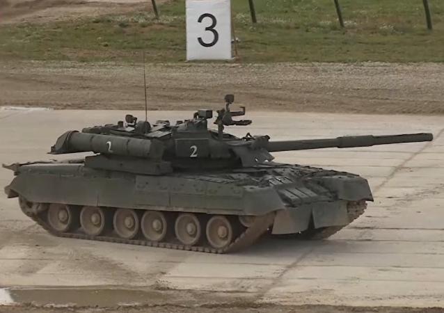 El tanque T-90M y el Basurmanin en acción