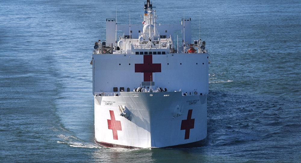 El barco Comfort de EEUU