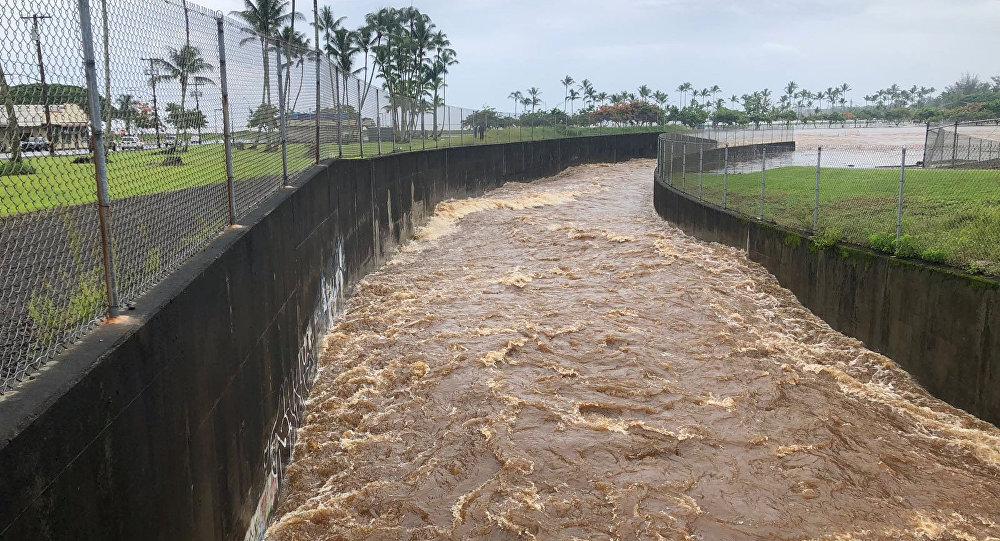 Consecuencias del huracán Lane en Hawái