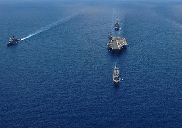 Un grupo naval de EEUU (imagen referencial)