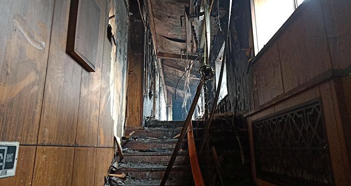 Incendio en un hotel en la ciudad china de Harbin