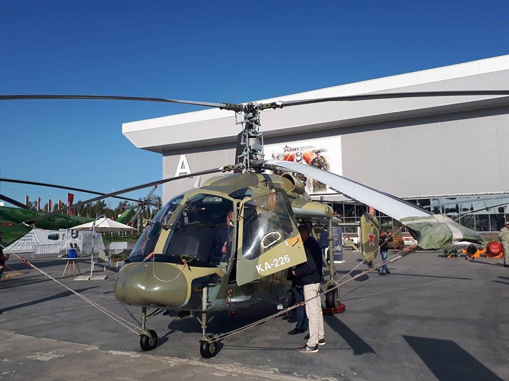 El helicóptero Ka-226.80 es una modificación del pequeño y económico Ka-226 diseñado especialmente para las necesidades de la Defensa