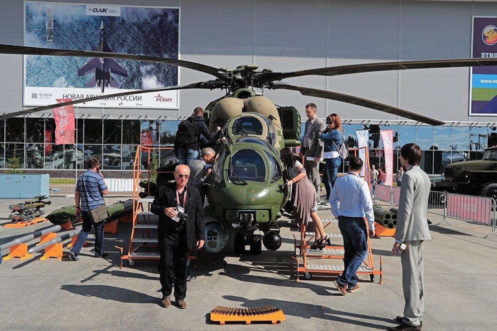 El Mi-35M es un helicóptero militar blindado destinado a tareas de transporte, desembarco, evacuación o apoyo aéreo a las tropas terrestres en combate