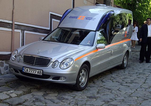 Una ambulancia en Bulgaria (imagen referencial)