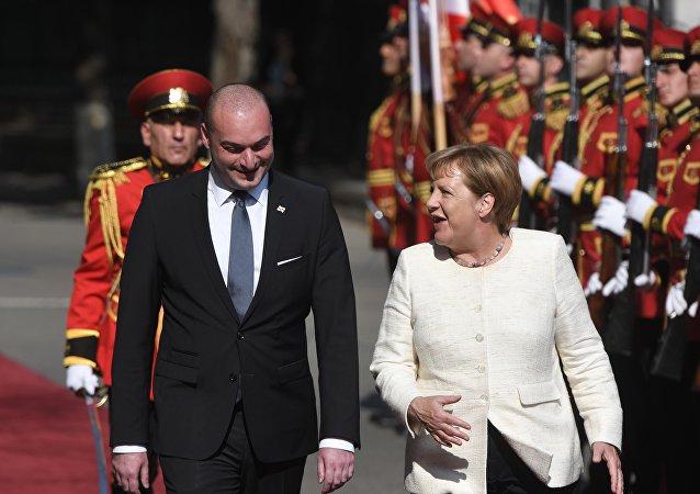 La visita de Angela Merkel a Georgia