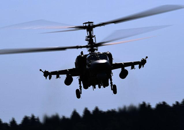 Un helicóptero Ka-52 en el Foro Army-2018