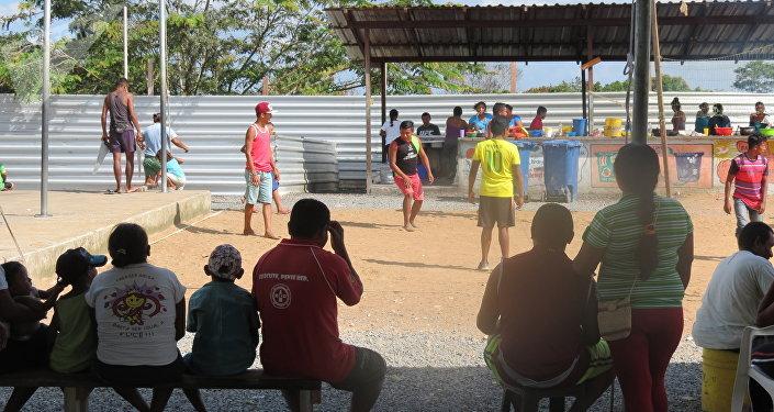 Campo de refugiados indígenas Warao