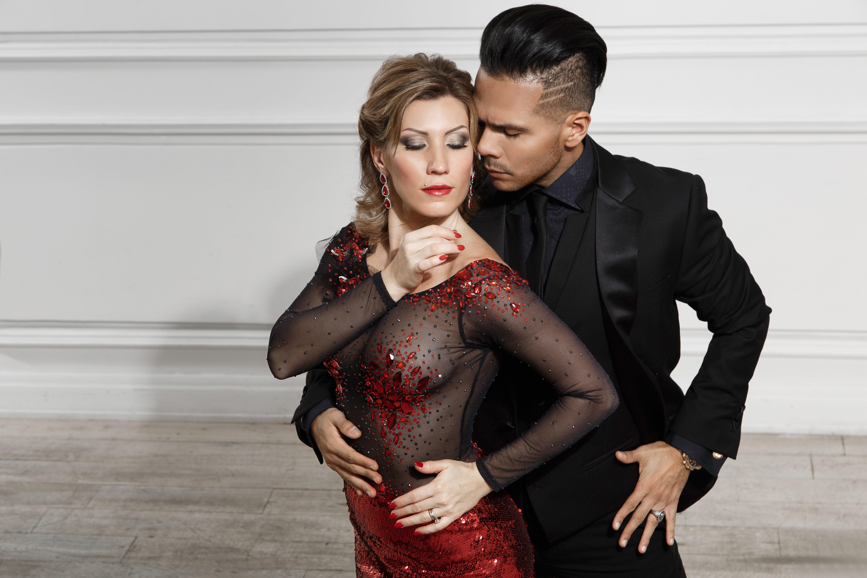 Bailarines de tango Sebastián Arce y Marina Montes