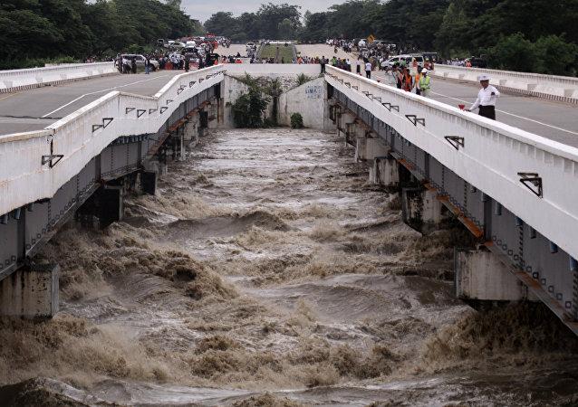 Inundación en Birmania