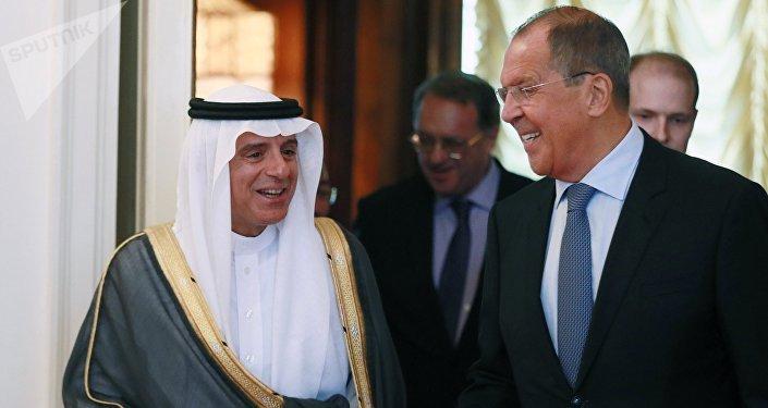 Встреча глав МИД России и Саудовской Аравии С. Лаврова и А. Аль-Джубейра