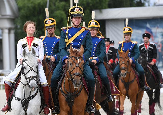Jinetes de la Escuela de Equitación del Kremlin (archivo)