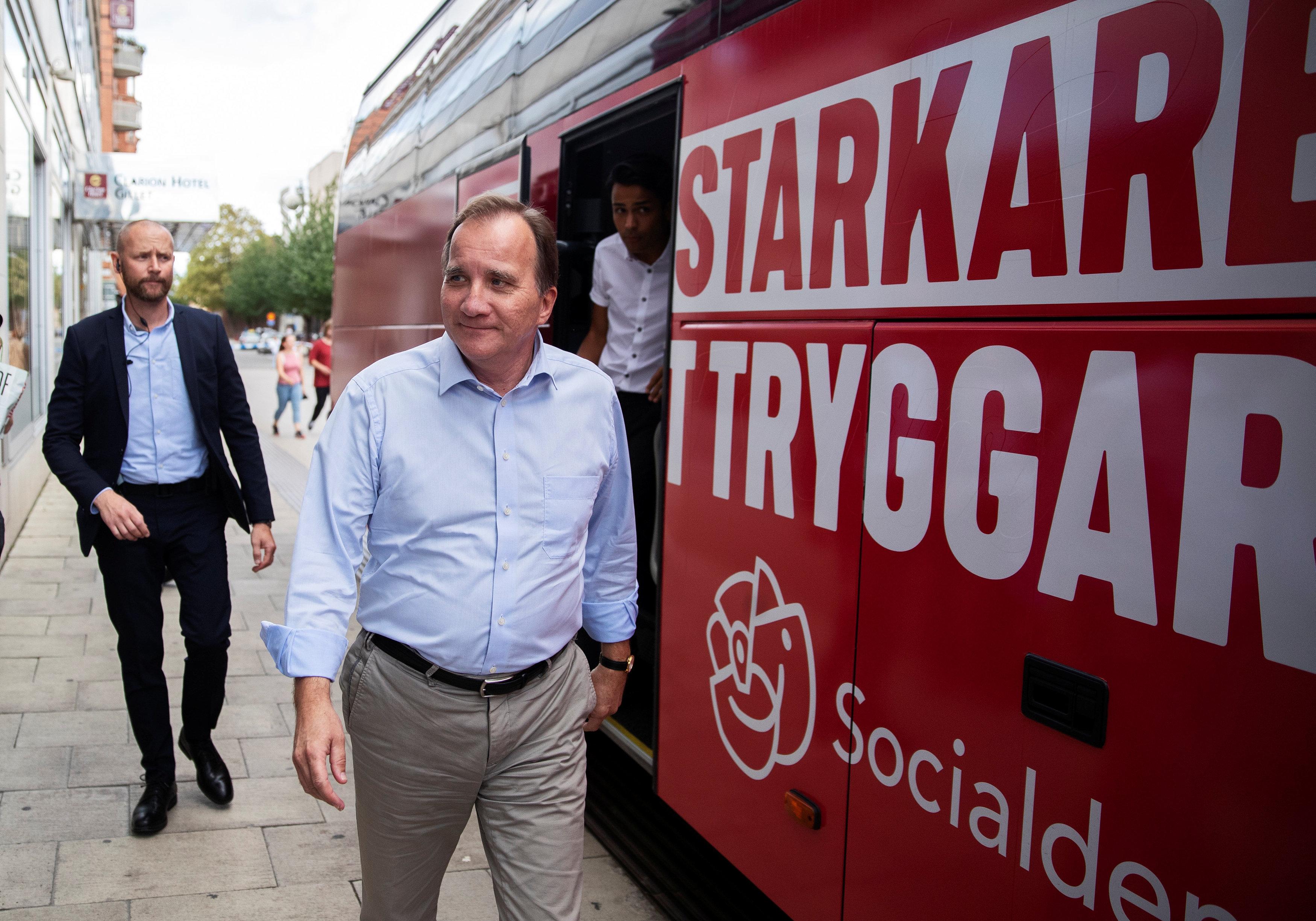 Stefan Lofven, primer ministro sueco y líder de los socialdemócratas