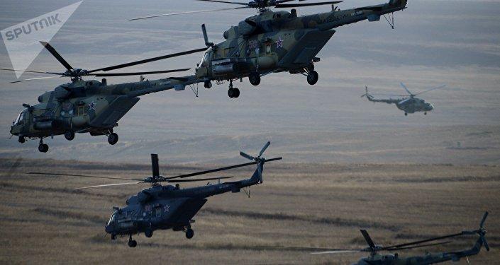 Helicópteros rusos Mi-8MTV (archivo)