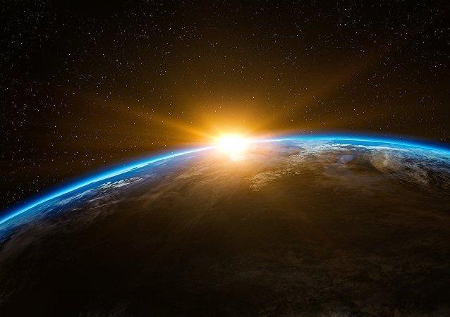 La tierra vista desde el espacio (ilustración)