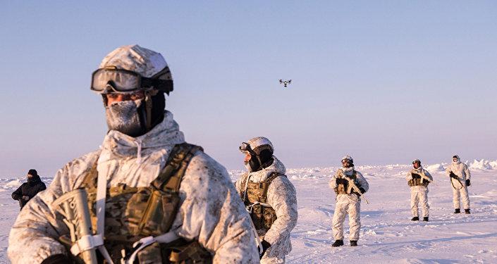 Militares de las Fuerzas especiales de Rusia en el Ártico