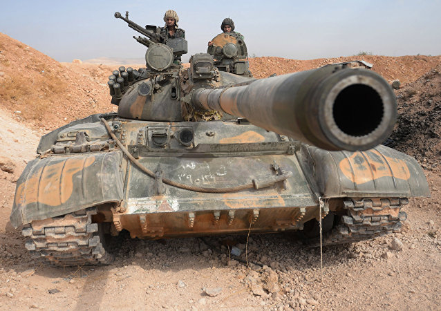 Tanque T-72 en Siria