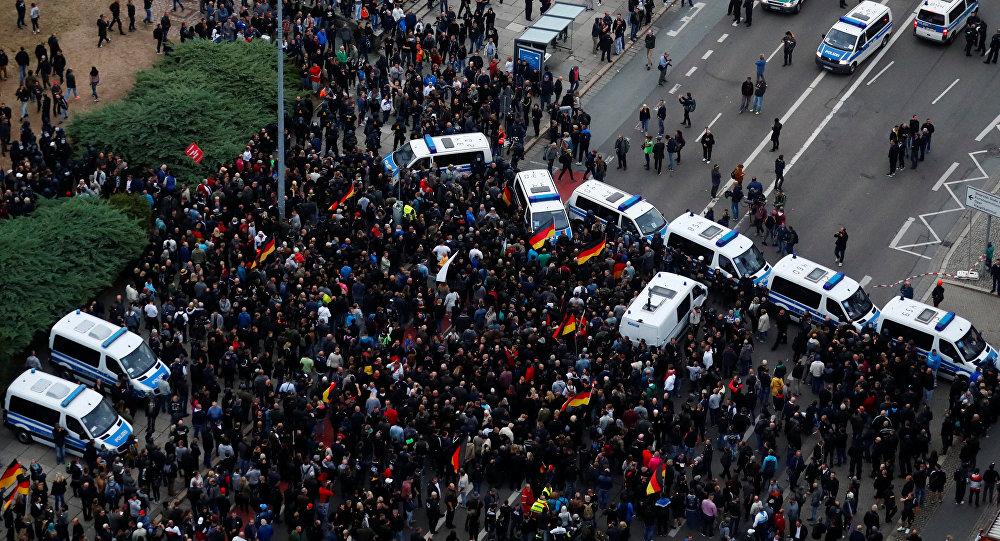 Manifestación de protesta en Chemnitz, Alemania