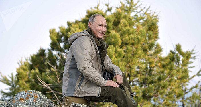 El presidente Putin pasa el fin de semana en Tuvá, Rusia