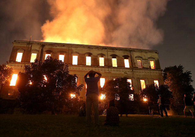Incendio en el Museo Nacional de Río de Janeiro