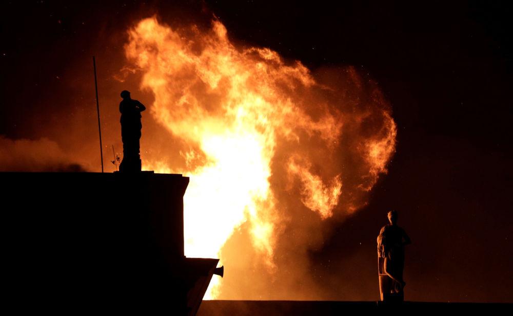 El Museo Nacional de Brasil arde en llamas