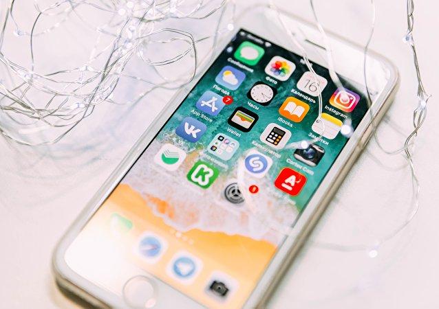 Un iPhone, imagen referencial