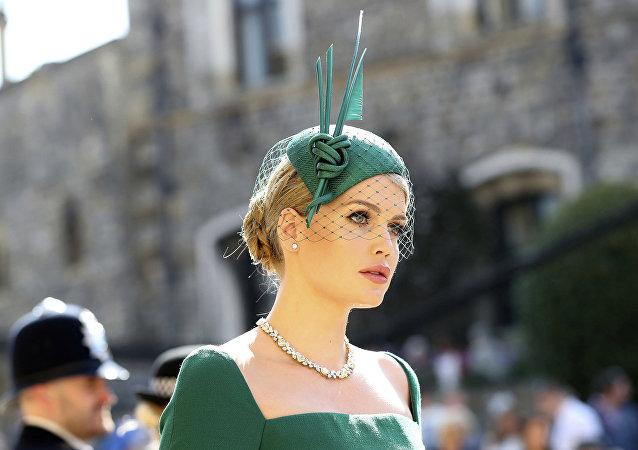 Lady Kitty Spencer en la boda del príncipe Harry y Meghan
