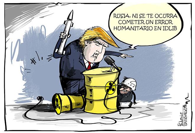 La paja en el ojo ajeno: Trump advierte a Moscú de un error humanitario en Siria