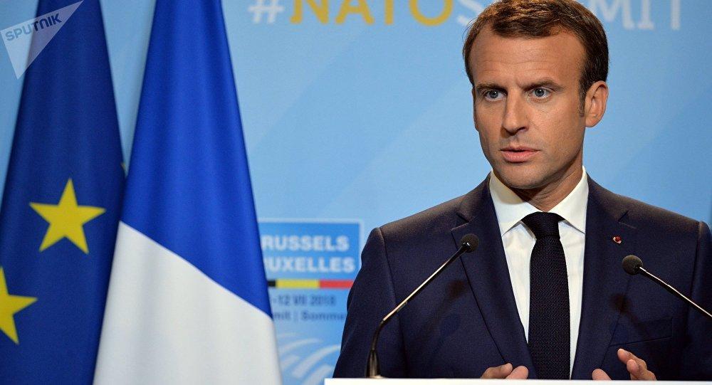 El presidente galo Emmanuel Macron