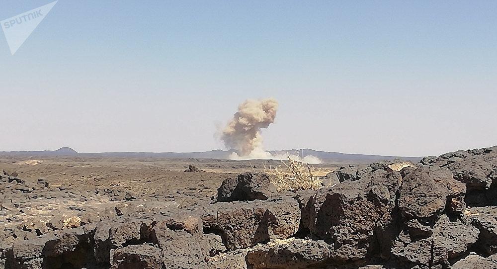 La Fuerza Aérea siria ataca a los terroristas en Idlib, archivo