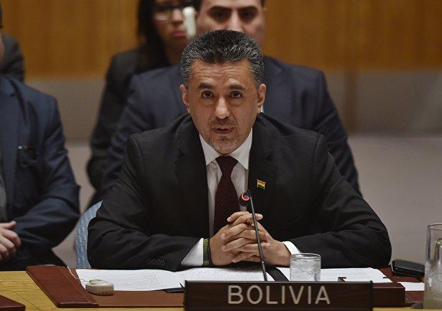 Sacha Llorenti, representante de Bolivia en el Consejo de Seguridad de la ONU (archivo)