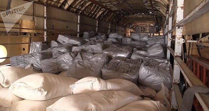 Ayuda humanitaria rusa llega a Siria