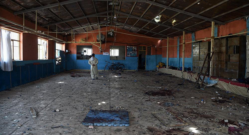Un gimnasio en Kabul, Afganistán, tras el doble ataqué