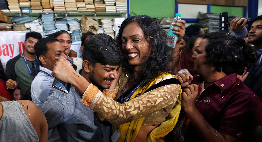 Los miembros de la comunidad LGBT en la India tras la legalización de las relaciones homosexuales consentidas