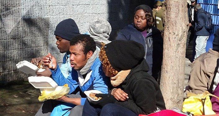 Situación de migrantes haitianos en Chile