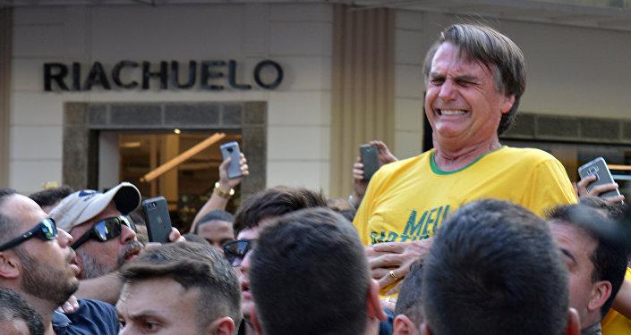 Atentado al candidato brasileño ultraderechista Jair Bolsonaro