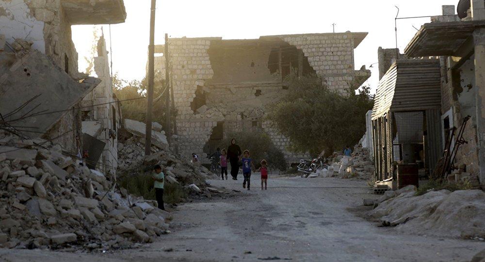 Edificios destruidos en Idlib (archivo)