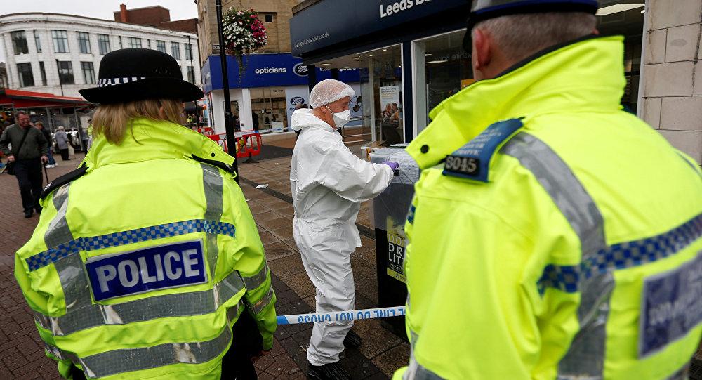 Policía británica en Barnsley