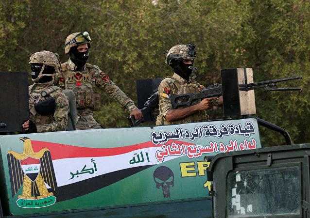 Los militares iraquíes en Basora