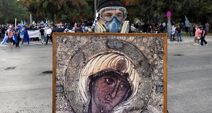 Protestas en la ciudad griega de Salónica