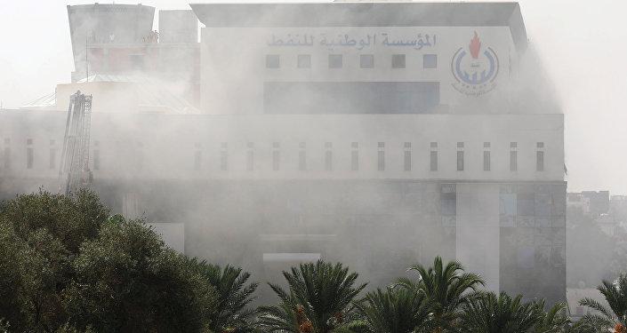 La petrolera libia NOC en Trípoli