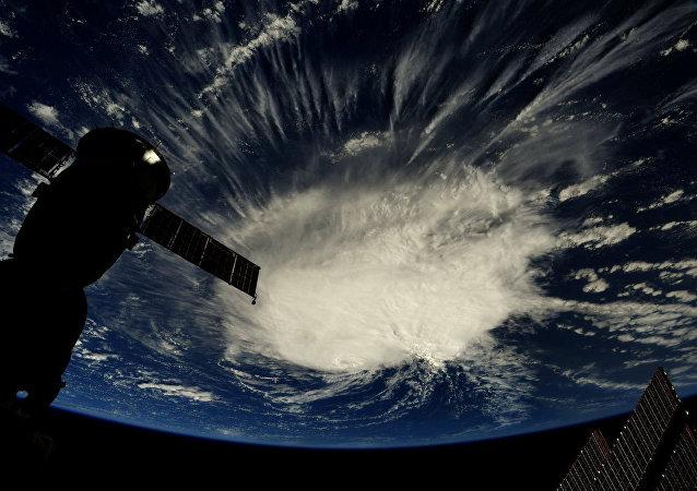 Huracán Florence visto desde el espacio