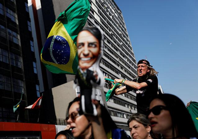 Partidarios del candidato Jair Bolsonaro