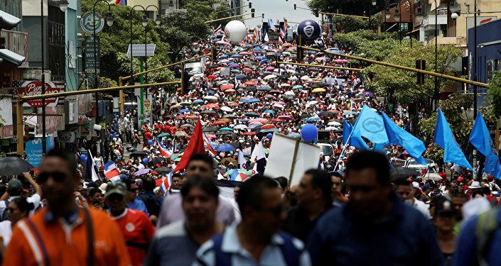 Manifestaciones en Costa Rica