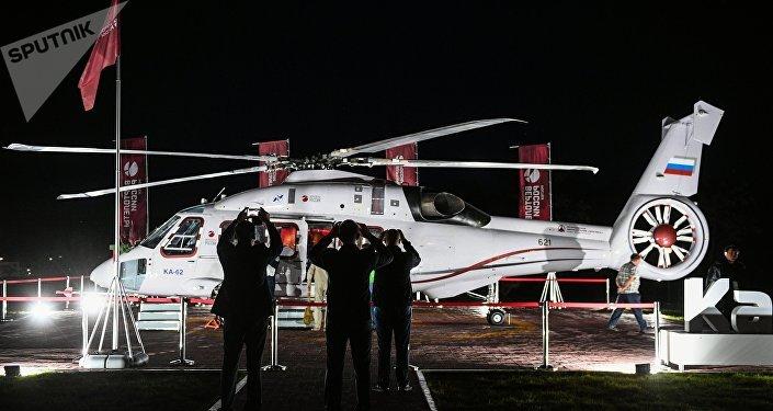 Helicóptero ruso Ka-62 en el Foro Económico Oriental 2018
