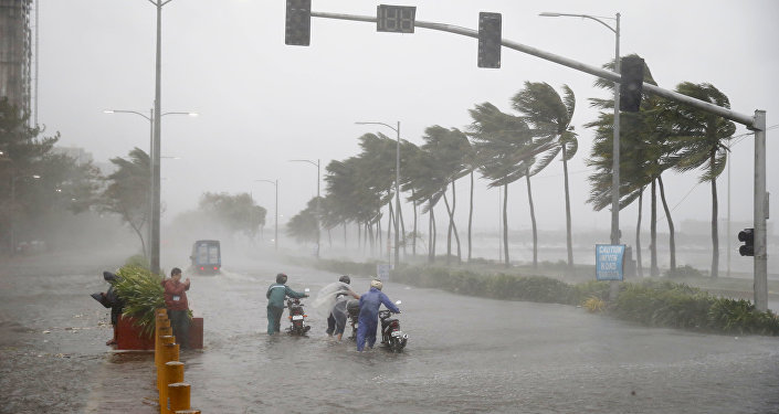 La llegada del tifón Mangkhut en Filipinas